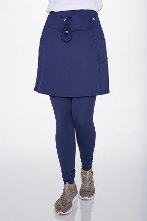 saia calca comprida azul marinho poliamida alta compressao epulari ep0193 frente baixo