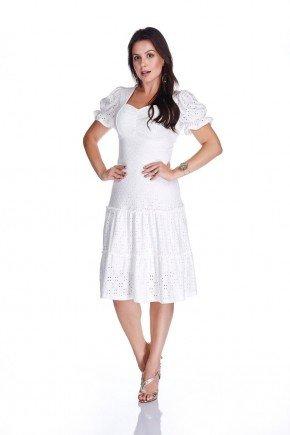 vestido off white laise