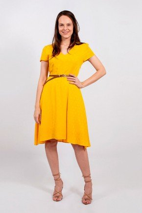vestido gode amarelo lekazis frente