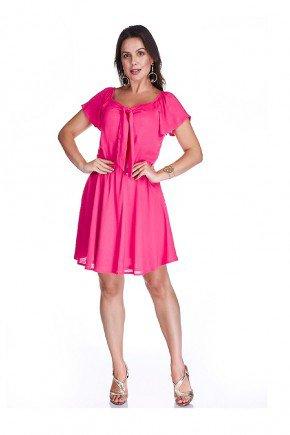 vestido pink ayla cloa frente