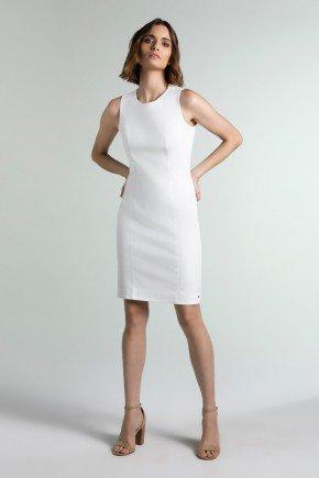 vestido de alfaiataria off white julia principessa pr1915 frente