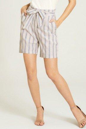 shorts listrado karoena frente