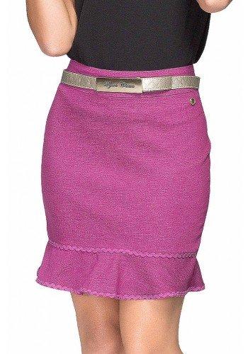 saia pink curta aplicacoes em renda dyork dk4262 frente baixo
