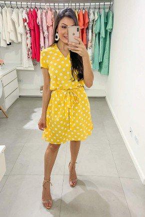 vestido amarelo poas leticia lekazis lk0394 frente
