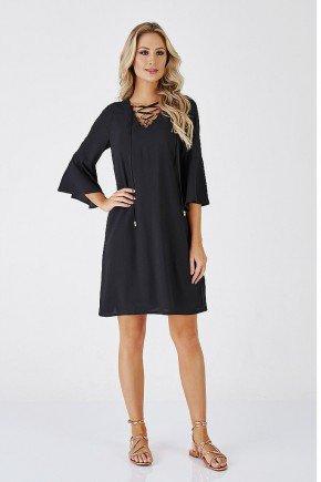 vestido preto toscana cloa frente