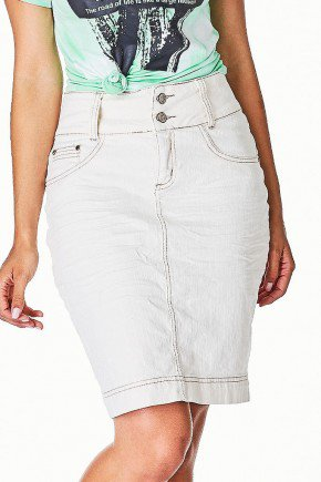 saia off white jeans detalhes amassados dyork frente baixo