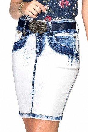 saia jeans azul claro lavagem sky dyork frente baixo