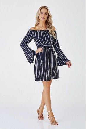 vestido marinho listras span stripes cloa frente