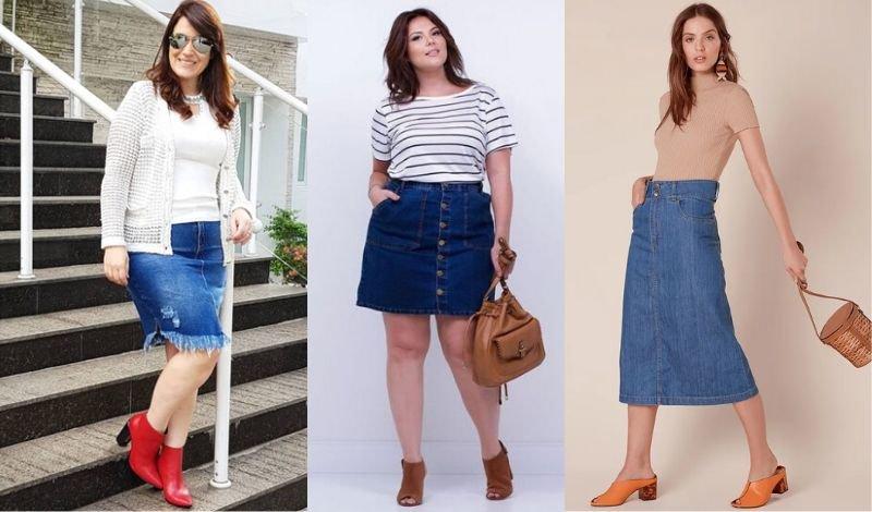 post no blog saia jeans e acessorios couro