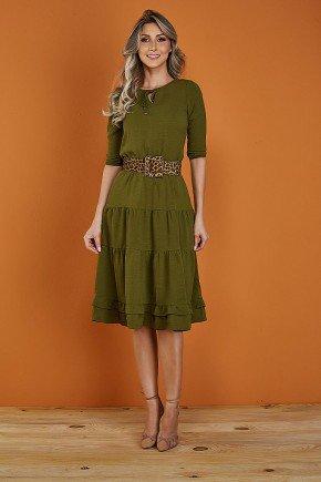 vestido gode verde militar com amarracao tata martello paola frente