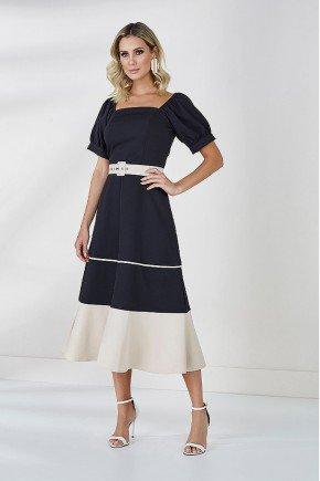 vestido preto com aveia cleo cloa frente