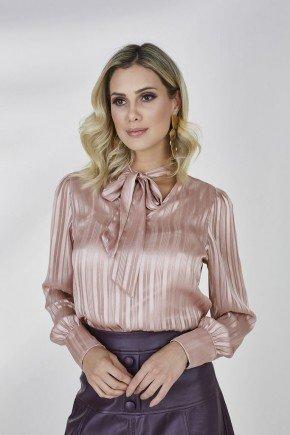 camisa rose gola laco amelie cloa