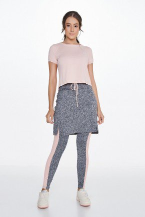 saia calca comprida mescla rose alta compressao uv50