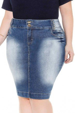 saia tradicional jeans pespontos no cos imperio jeans frente baixo