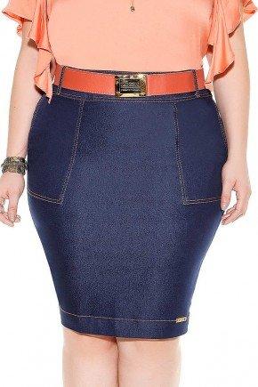 saia jeans bolsos frontais frente baixo