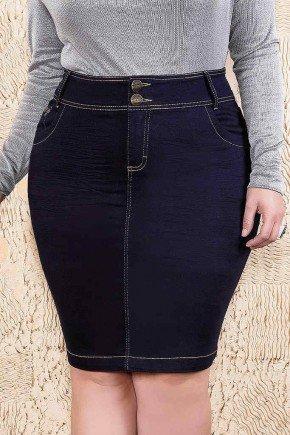 saia jeans reta plus size imperio jeans frente baixo