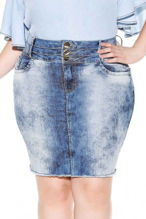 saia jeans cos triplo barra desfiada imperio jeans frente baixo