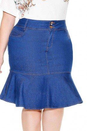 saia jeans sino azul imperio jeans frente baixo