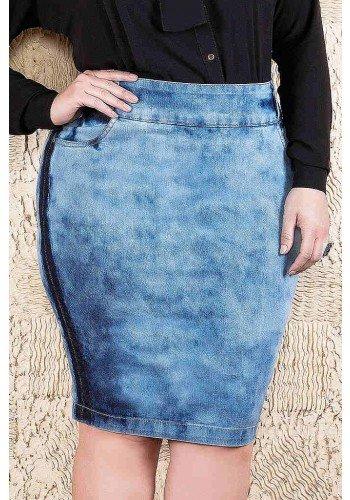 saia jeans lavagem especial imperio jeans frente baixo