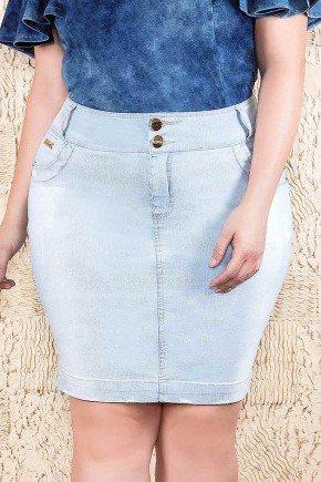 saia jeans azul claro imperio jeans frente baixo