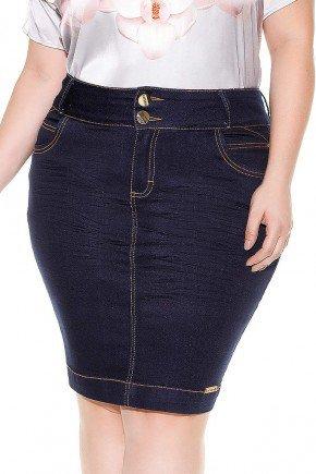 saia tradicional azul marinho costuras aparentes imperio jeans frente baixo