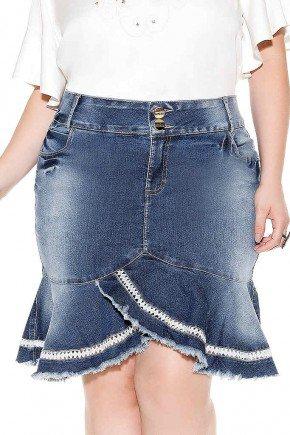 saia sino barrado assimetrico com lesie imperio jeans frente baixo
