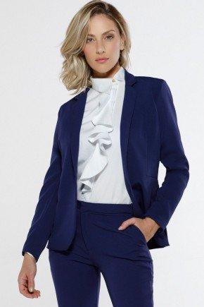 blazer feminino marinho alfaiataria gaia aberto