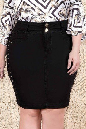saia tradicional preta amarracao lateral imperio jeans frente baixo