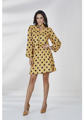 vestido antonella cloa amarelo mostarda