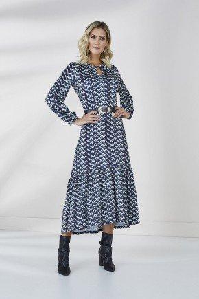 vestido estampado joyce cloa frente