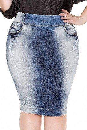 saia jeans midi imperio jeans frente baixo