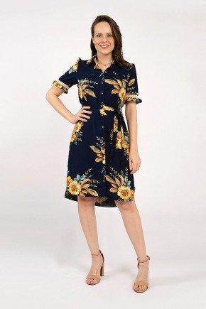 vestido chemise floral azul geisa lekazis frente