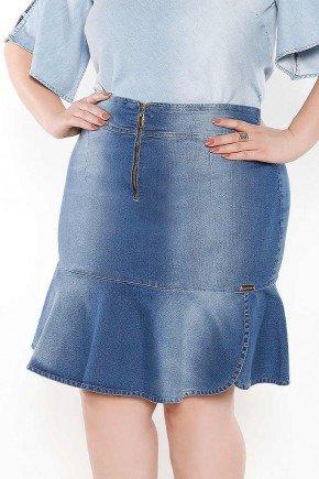 saia sino fenda lateral imperio jeans frente baixo