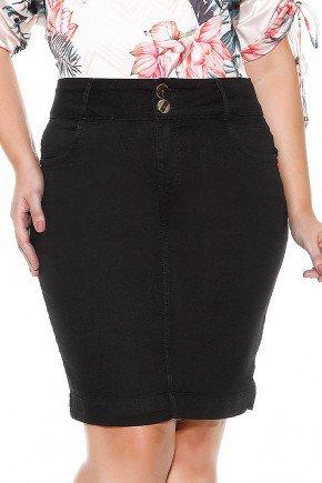 saia jeans preta reta imperio jeans frente baixo