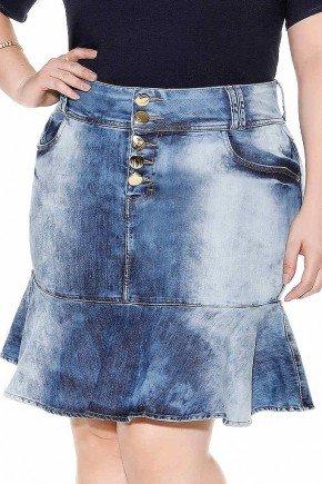 saia sino lavagem especial botoes frontais imperio jeans frente baixo