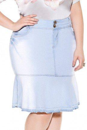 saia sino azul claro barra desfeita imperio jeans frente baixo