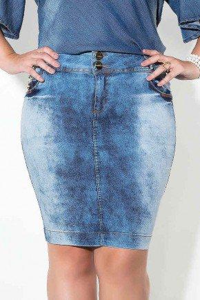 saia jeans plus size lavagem especial imperio jeans frente baixo