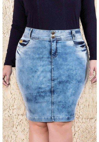saia jeans detalhes recortes laterais imperio jeans frente baixo