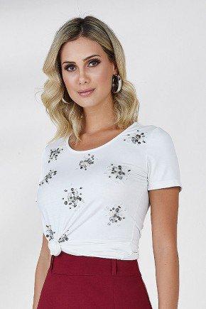 t shirt off white bordados frontais cloa frente cima