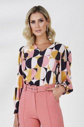 blusa estampada louse cloa frente cima