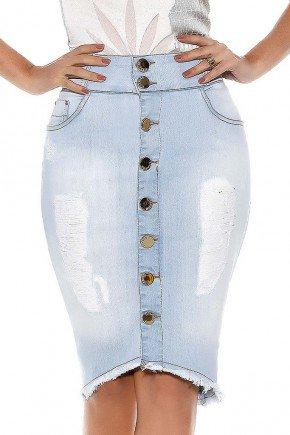 saia mullet destroyed abotoamento frontal titanium jeans frente baixo