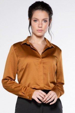 camisa caramelo feminina mychele look