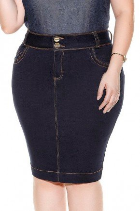 saia marinho costura aparentes pontilhada imperio jeans frente baixo