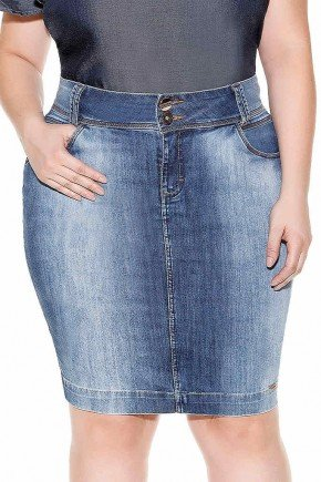 saia tradicional costuras duplas imperio jeans frente baixo