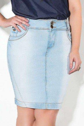 saia midi clara recortes na barra imperio jeans frente baixo