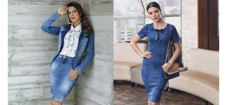 Saias e vestidos jeans - Peças que não podem faltar no seu guarda-roupa!