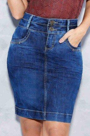 saia jeans tradicional cos duplo titanium frente baixo