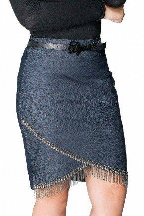 saia secretaria com aplicacoes e correntes dyork jeans