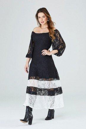 vestido gode rendado lavinia cloa frente