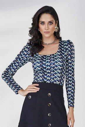 blusa estampas geometricas alina cloa frente cima